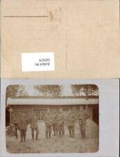 547679,Deutsche Armee Soldaten Gruppenbild Foto-AK Rad Fahrrad