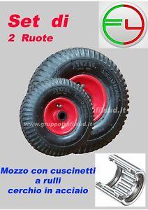 RUOTA PNEUMATICA PER CARRELLO  3.00-4 260 X 85  - Set 2 Pezzi