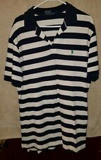 Polo By Ralph Lauren Men's Blue White Striped Golf Shirt Size Large L
