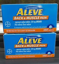200 ALEVE  TABLETS / Back & Muscle Pain NEW - 2021 DATE
