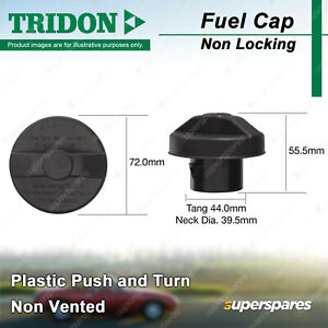 Tridon Non Locking Fuel Cap for Holden Colorado RC Rodeo RA03 RA07 Diesel