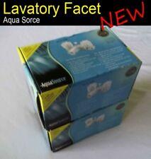 2x Faucets - AquaSource - 27889 - Two Handle Lavatory Faucet