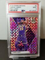 Lebron James 2019 Panini Mosaic pink camo PSA 9 Lakers