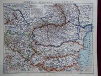 Landkarte von Rumänien, Bulgarien und Serbien, Brockhaus 1904