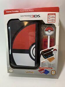 Nintendo 3DS Game Traveler Essentials Pack Black Poké Ball Pokeball Open Box*
