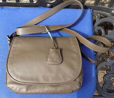Kipling Real Leather Dark Olive Messenger Adjustable Cross Body Bag
