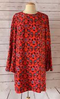 ISSA LONDON Size US 10 Silk Paisley Dress With Bell Sleeves