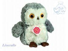 Little Grey Owl  Plush Soft Toy Bird by Teddy Hermann Collection. 94138