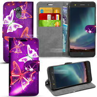 For ZTE Blade V7 Lite  Wallet Leather Case Flip Book Cover + Screen Guard