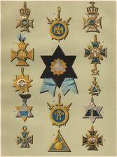 FREEMASONRY. A Representative Selection of German Lodge Jewels. Germany 1882