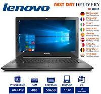 "Lenovo G50-45 15.6"" Laptop AMD A8 2GHZ 4GB RAM 500GB Radeon R5 Windows10 A Grade"