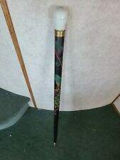 Antique Walking Stick Cane With Hidden Pool Cue Carved Peacock Very Cool