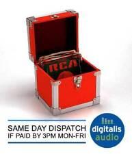 Steepletone Vinilo De 7 pulgadas Caja de registro único de almacenamiento y llevar caso rojo SRB07SGL
