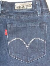 Levis Capital E Jeans Swank Low Boot Dark with Silver Sparkle Sz 25 / 26
