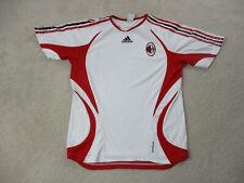 Adidas AC Milan Soccer Jersey Adult Medium White Red Futbol Football Mens *