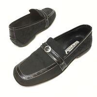 Brighton Ultra Women's Black Driving Mocs Shoes Hearts Loafers Flats Sz 6 M EUC