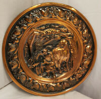 Coppercraft Guild Copper Mid Century Wall Decor Plate Farrier Shoeing Horse