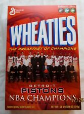 Wheaties Detroit Pistons NBA Champions 2003-2004,Unopened