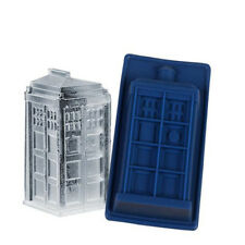 Doctor Who Tardis Silicone Mould Ice Candy Cube Tray Jello Mold DIY Baking Tool