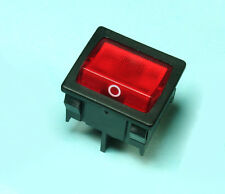 2pcs MARQUARDT 1805 Red Illuminated Rocker Switch DPST 6A 125Vac 1/4 HP Square