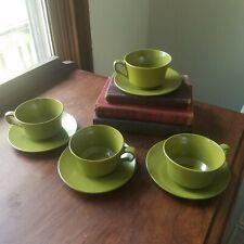 Melmac Melamine Cup & Saucer Green Mid Century Kitchenware Vintage