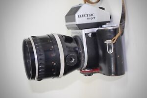 Kamera Pentacon six TL mit großem Tele Objektiv Jena 1:2,8 f = 160
