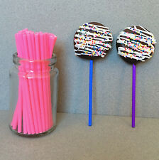 "4.5"" Plastic Light Pink Lollipop Sticks, Pink Sucker Sticks, Pink Cake Pop Stick"