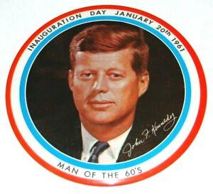 "1961 6"" JOHN F KENNEDY JFK INAUGURATION pin pinback button campaign political"