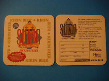 BEER Coaster <*> KIRIN Brewery ~ Win A Trip to 2000 SUMO Spectacular Sweepstakes