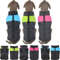 Pet Vest Jacket Warm Waterproof Winter Padded Coat Clothes For Small/Large Dogs
