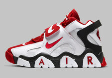 AUTHENTIC NIKE Air Barrage Mid White University Red Black AT7847 102 Men size
