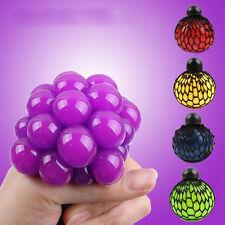 Novelty Anti-Stress Squishy Mesh Venting Ball Grape Squeeze Sensory Fruity To#E