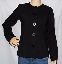 """IVORY"" - Size 8 - Great PreLoved - 'BLACK Lined Classic Button Jacket"