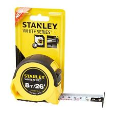 Stanley Tough Case White Series Tape Measure 8m / 26ft Wide Blade Model