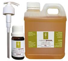 Jojoba Oil Virgin 100 Pure 1l Lavender 12ml Pump Pack