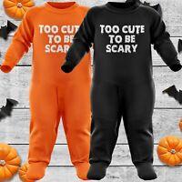 BABYGROW,ROMPER GIFT BABY GIRL BOY HALLOWEEN Pumpkin face BLACK SUIT
