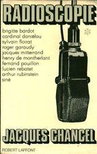 Livre radioscopie Jacques Chancel book