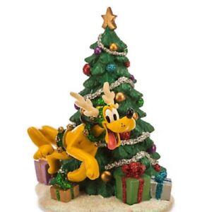 Disney Pluto Reindeer Christmas Tree Figurine Theme Parks