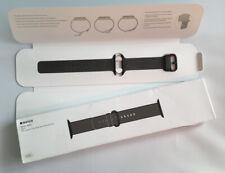 Genuino Apple Reloj Banda Tejido Nylon Correa Negro 2016 42mm/44mm