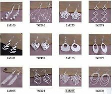 12pair wholesale beautiful Fashion 925 sterling Silver Plated women Earrings