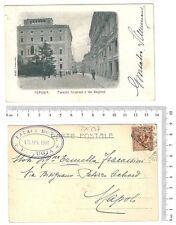 Perugia - Palazzo Cesaroni e Via Baglioni - Viaggiata 1905 animata - 19741