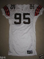Jamir Miller #95 Cleveland Browns 1999 NFL Game Worn Used Jersey Autograph