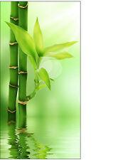 Sticker frigo électroménager déco cuisine bambous 91,2x178,9cm réf 534
