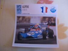 CARTE FICHE ALPINE A 364 F3