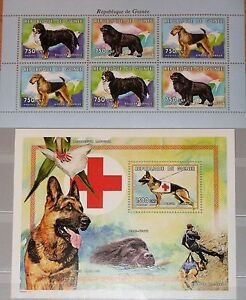 GUINEA 1999 Klb 2486-88 Block 600 Hunderassen Hunde Dogs Domestic Animals MNH