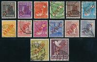 BERLIN 1949, MiNr. 21-34, gestempelt, gepr. Schlegel, Mi. 900,-