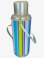 Vintage Thermos Beach Colors Blue Green Yellow White