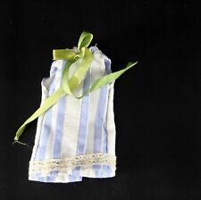 Handmade Blue White Striped Light Summer Cotton Dress for Blythe Takara Doll