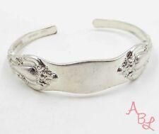 "Sterling Silver Vintage 925 Etched Spoon Cuff Bracelet 6.5"" (20.6g) - 567773"