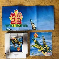 MiG 29: Soviet Fighter (Nintendo Entertainment System, 1992) NES + Manual
